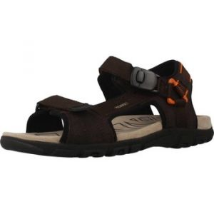 Geox Uomo Strada B, Sandales Bout Ouvert Homme, Marron