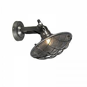Qazqa Industriel/Rustique/Applique murale Stradt zinc Metal Rond Compatible pour LED E14 Max. 1 x 25 Watt/Luminaire/Lumiere/Éclairage/intérieur/Chambre á coucher/Cuisine