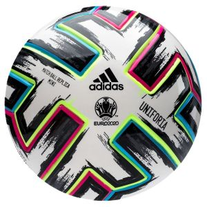 Adidas Mini ballon de football UEFA Coupe d'Europe 2020 Uniforia Match Ball Replica Mini Blanc / Noir - Taille Mini