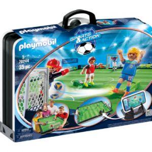Playmobil Grand terrain de football transportable - Sports & Action - 70244