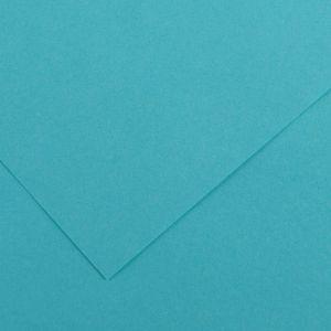 Canson 200040062 - Feuille Iris Vivaldi 50x65 120g/m², coloris bleu turquoise 25