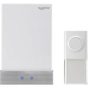 Sygonix Set complet Sonnette sans fil 1417379 100 m blanc, argent