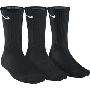 Nike Cotton Cushion Crew Chaussettes (3 paires) Black/White FR: XL (Taille Fabricant: XL)