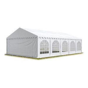 Intent24 TOOLPORT Tente Barnum de Réception 6x10 m ignifugee PREMIUM Bâches Amovibles PVC 500 g/m² blanc Cadre de Sol Jardin.FR