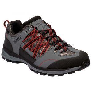 Regatta Chaussures Zapatillas Impermeables Samaris Low Gris-Rojo Gris - Taille 39,41