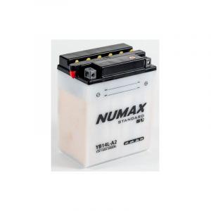 Numax Batterie moto Standard avec pack acide YB14L-A2 12V 14Ah 175A