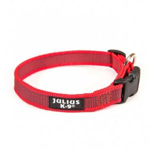 Julius K9 Collier avec boucle Color & Gray Rouge, 20 mm / 27-42 cm