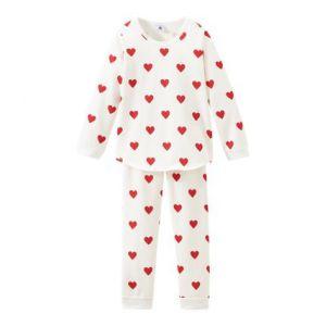 Petit Bateau Pyjama petite fille en molleton