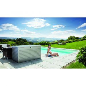 Biohort Coffre de jardin gris quartz métallique 160x79x83 cm