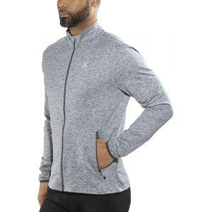 Odlo Polaires Alagna Midlayer Full Zip - Grey Melange - Taille L