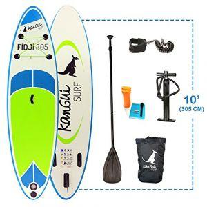 Kangui Stand up Paddle sup gonflable + pagaie + sac à dos + pompe haute pression + leash + kit de réparationFIDJI