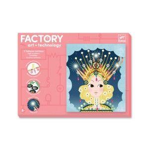 Djeco Factory E-paper 3 Tableaux à illuminer Couronnées