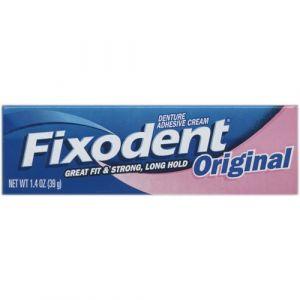 Fixodent Original - Crème adhésive pour appareil dentaire 40g - Pack de 6
