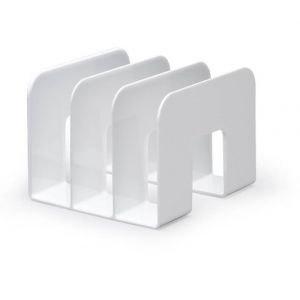 Durable 1701395010 Trend Porte-catalogues Trieur Documents Vertical 3 Compartiments Polystyrène Blanc Opaque