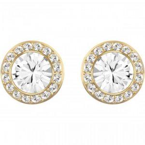 Swarovski Boucles d'oreilles 5505470 - Métal Doré Cristal Incolore Encerclé D'un Pavé Serti Femme
