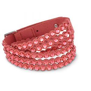 Swarovski BRACELET 5531287 - Bracelet Cuir Cristal rouge Femme
