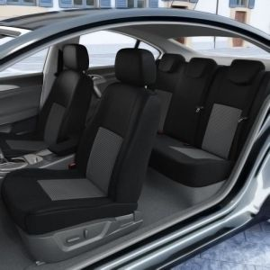 DBS 1012549 Housse de siège Auto / Voiture - Sur Mesure - Finition Haut de Gamme - Montage Rapide - Compatible Airbag - Isofix