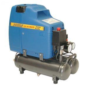 Lacme UNIVERSAIR 1 - Compresseur monobloc sans huile compact et puissant 12,3 m³/h cuve 6 litres (101000)