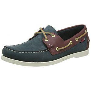 Sebago Spinnaker, Chaussures bateau homme - Bleu (Blue/Brown), 41.5 EU (7.5 UK) (8 US)