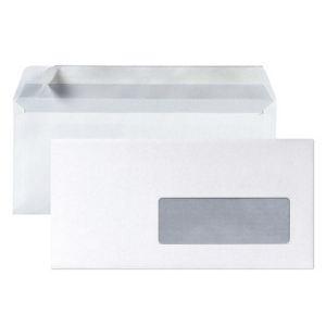 5* office 500 enveloppes 11 x 22 cm avec fenêtre 4,5 x 10 cm