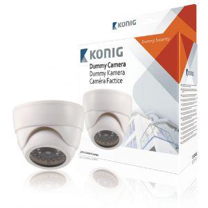 Image de König SAS-DUMMYCAM60 - Caméra dôme CCTV réglable factice d'intérieur