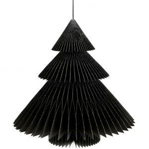 Amadeus Sapin deco noir en papier (32 cm)