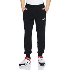 Puma ESS Logo Pants FL cl Homme, Black, FR : 2XL (Taille Fabricant : XXL)