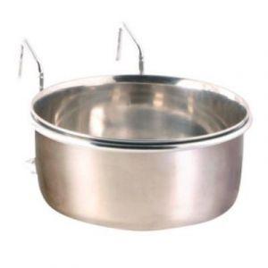 Trixie Mangeoire acier inoxydable avec support 150 ml ø7 cm
