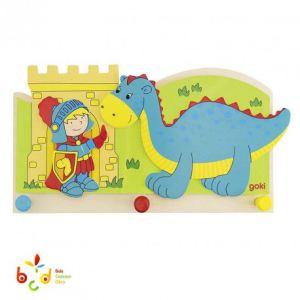 Goki 60796 - Portemanteau Petit chevalier et dragon