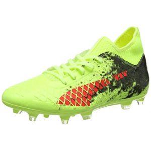 Puma Future 18.3 FG/AG, Chaussures de Football Homme, Jaune (Fizzy Yellow-Red Blast Black), 44 EU