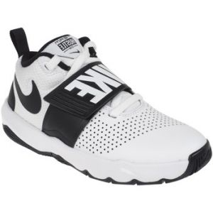 Nike Team Hustle D 8 (GS), Chaussures de Basketball Garçon, Blanc (White/Black 100), 36.5 EU