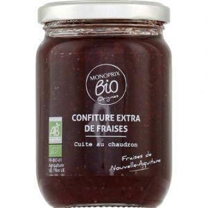 Monoprix Bio Confiture extra de fraises bio, cuite au chaudron