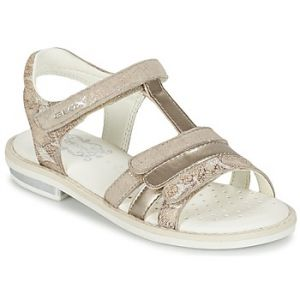 Geox Giglio A, Sandales Bout Ouvert Fille, Beige (Beigec5000), 31 EU