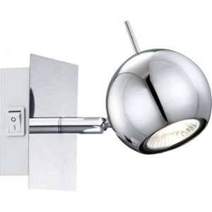 Globo Lighting Applique chrome LED L14,5 x l10 x h10 cm - Applique chrome - chrome - Interrupteur - 100x100 - OH:145 - Ampoule incluse