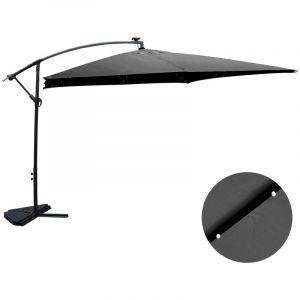 Concept-Usine Solenzara Bulle gris : parasol LED déporté 3x3m