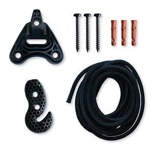 La Siesta Universal Rope Black - Fixation multi-surface pour chaise-hamacs et nid-hamacs