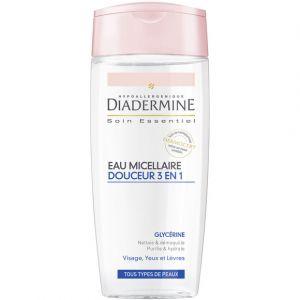 Diadermine Eau micellaire douceur 3 en 1, glycérine, tous types de peaux - Le flacon de 200ml