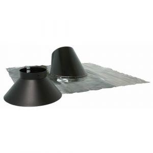 Ten Solin inox 30° à 45° noir BIOTEN + collet 125