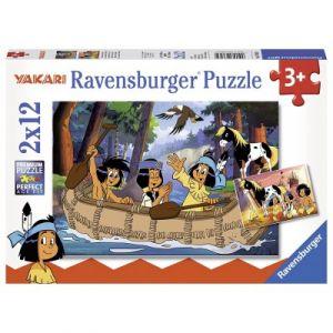 Ravensburger Les aventures de Yakari - Puzzle 2 x 12 pièces