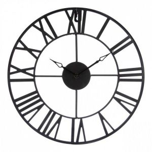 Horloge murale vintage d 36 5 cm noir