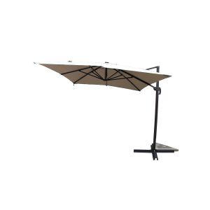 Concept-Usine Calvia Ecru - Parasol rectangulaire avec LED