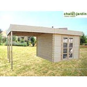 Chalet et Jardin Azur Pergola - Abri de jardin avec pergola en bois 28 mm 17,91 m2