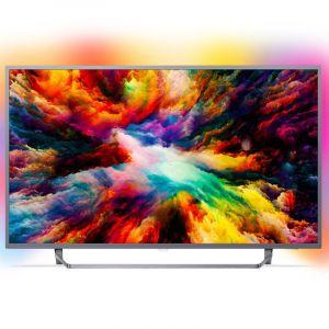 Philips 55PUS6753/12 - Téléviseur LED 139 cm 4K UHD avec Ambilight 3 côtés et système Saphi