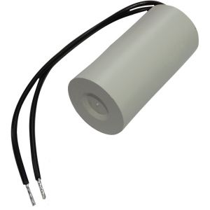 Aerzetix Condensateur permanent de travail pour moteur 3µF 450V précâblé Ø25x51mm ±10% 10000h