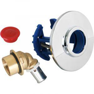 Somatherm Sortie de cloison FIXOPLAC machine à laver - Raccord à sertir Femelle 15/21 pour PER Ø 12