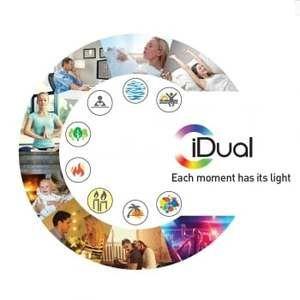 JEDI LIGHTING 2 ampoules couleur changeante réflecteur LED iDual 6.5W, JEDI, GU10 télécommande