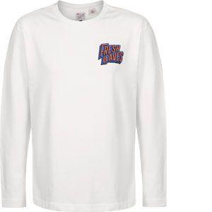Levi's T-shirt X JUSTIN TIMBERLAKE LONG SLEEVE GRAPHIC TEE 0001 SNOW blanc - Taille EU S,EU M,EU L,EU XL
