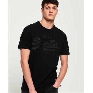 Superdry T-shirt ajusté avec logo appliqué Vintage - Couleur Noir - Taille XS