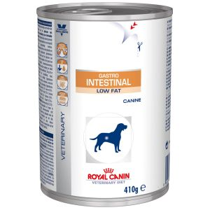 Royal Canin Boîtes Veterinary Diet Chien Gastro Intestinal Low Fat Contenance : 12 boites de 410 g