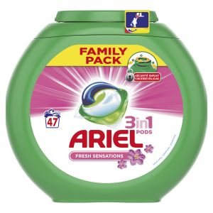 Ariel 3 en 1 Pods Sensation Rose Capsules 47 Lavages - Lot de 2
